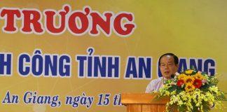 Ông Vương Bình Thạnh - Chủ tịch UBND tỉnh An Giang - phát biểu tại lễ khai trương.