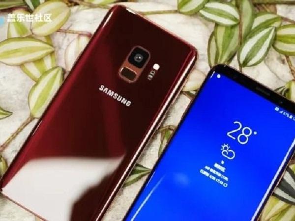 Galaxy S9/S9 Plus màu đỏ tía Burgundy mới và màu vàng Sunrise Gold