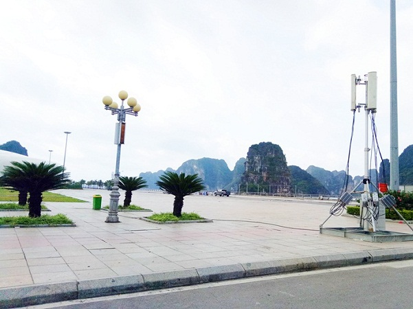 Điểm phát wifi miễn phí được lắp đặt tại khu vực Quảng trường 30/10.
