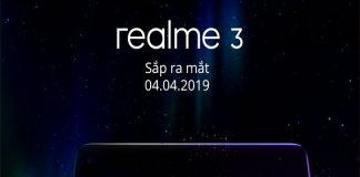 Realme 3 thông báo sẽ có mặt tại Việt Nam vào ngày 4/4