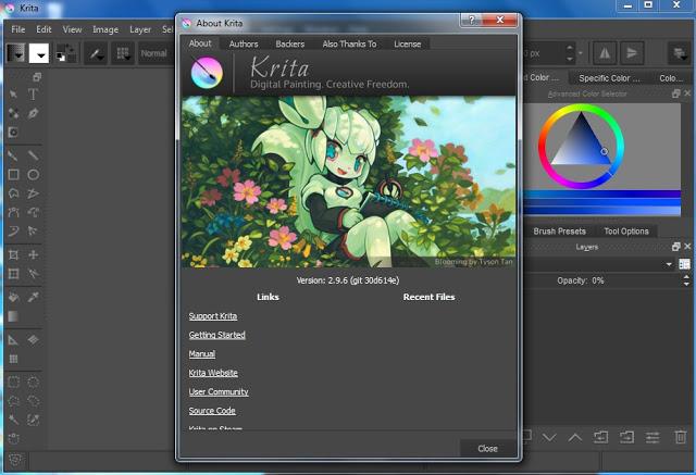 Krita -phần mềm vẽ trên máy tính