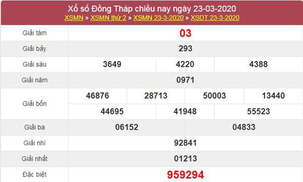 Dự đoán XSDT 30/3/2020 - KQXS Đồng Tháp thứ 2