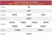Dự đoán XSTV 23/10/2020 chốt lô VIP Trà Vinh thứ 6