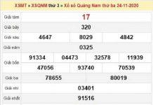 Dự đoán XSQN ngày 01/12/2020- xổ số quảng nam chuẩn xác