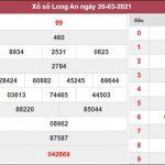 Dự đoán XSLA 27/3/2021 thứ 7 chốt lô VIP Long An