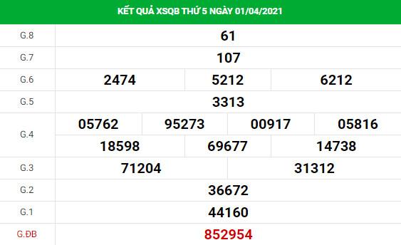Soi cầu dự đoán XS Quảng Bình Vip ngày 08/04/2021