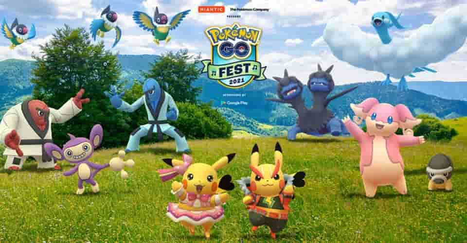 Pokémon GO Fest 2021 sẽ có sự kết hợp giữa các sự kiện trực tiếp và ảo